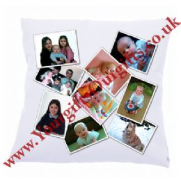 Velvet Personalised Photo Montage Cushion | Photo Collage Cushion Satin